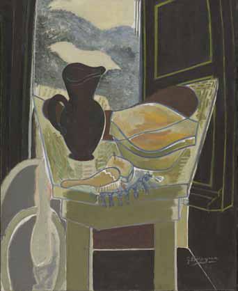 Georges Braque (882-1963). La Toilette devant la fenêtre, 1942. Centre Georges Pompidou, Paris