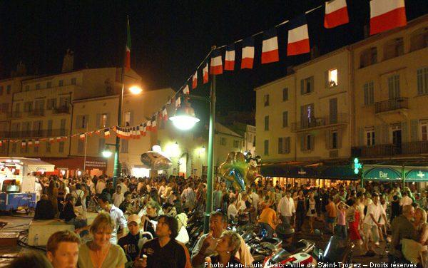 Le 14 juillet 2009 à Saint-Tropez