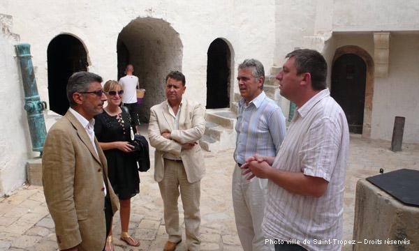Image 1 - Visite de l'adjoint à la culture de la ville de Cannes
