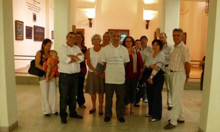 Visite des agents de la mairie à l'Annonciade