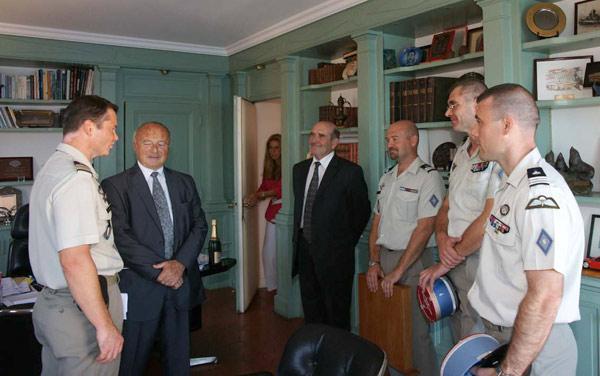 Image 1 - Le 5e BMAT en visite à Saint-Tropez
