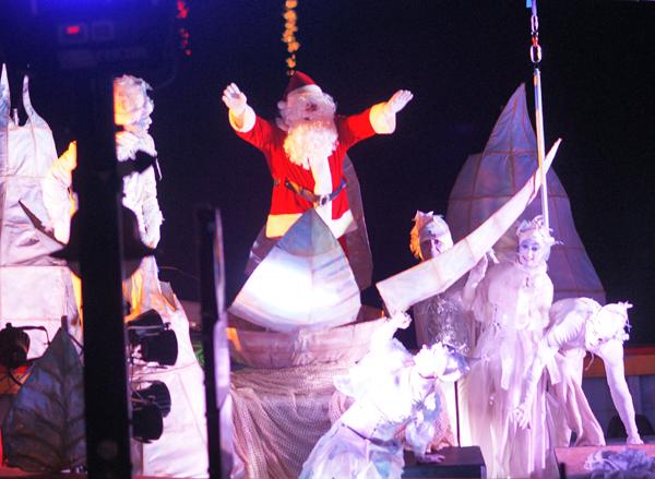 Le Père Noël fait son apparition !