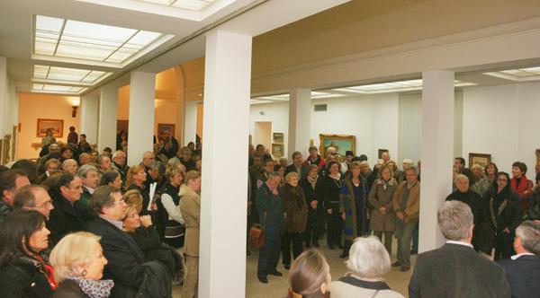 Le public était venu nombreux à l'inauguration de l'exposition.