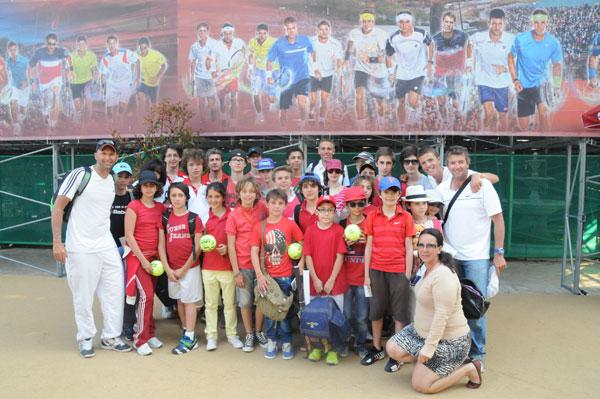 Les élèves du Club de Tennis de Saint-Tropez