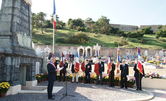 Cérémonie du 1er novembre à Saint-Tropez