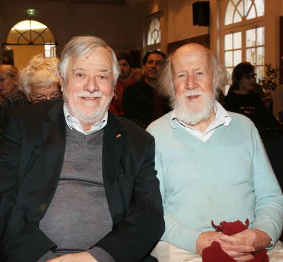 Yves Coppens et Hubert Reeves, les deux têtes d'affiche des Mystères du XXIe siècle, édition 2013.
