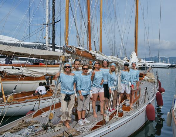 Les bateaux de la coupe des dames