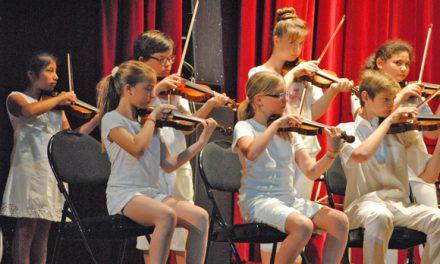 Une pluie de cordes pour l'audition des élèves du conservatoire