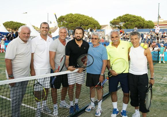 Christian Bîmes, Cédric Pioline, David Ginola, Henri Leconte, Michel Boujenah, Mansour Bahrami et Nagui !