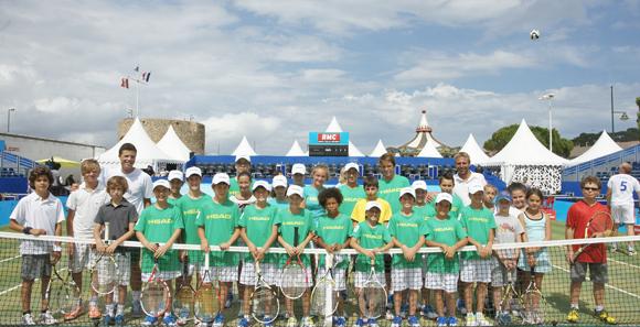 Toute l'équipe des ramasseurs de balle de l'UST Tennis.