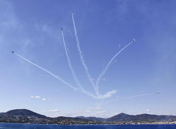 La Breitling Jet Team a brillamment conclu le meeting aérien.