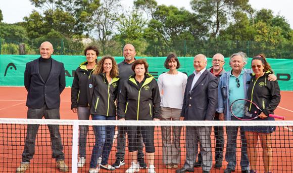 Inauguration : les courts de tennis rénovés