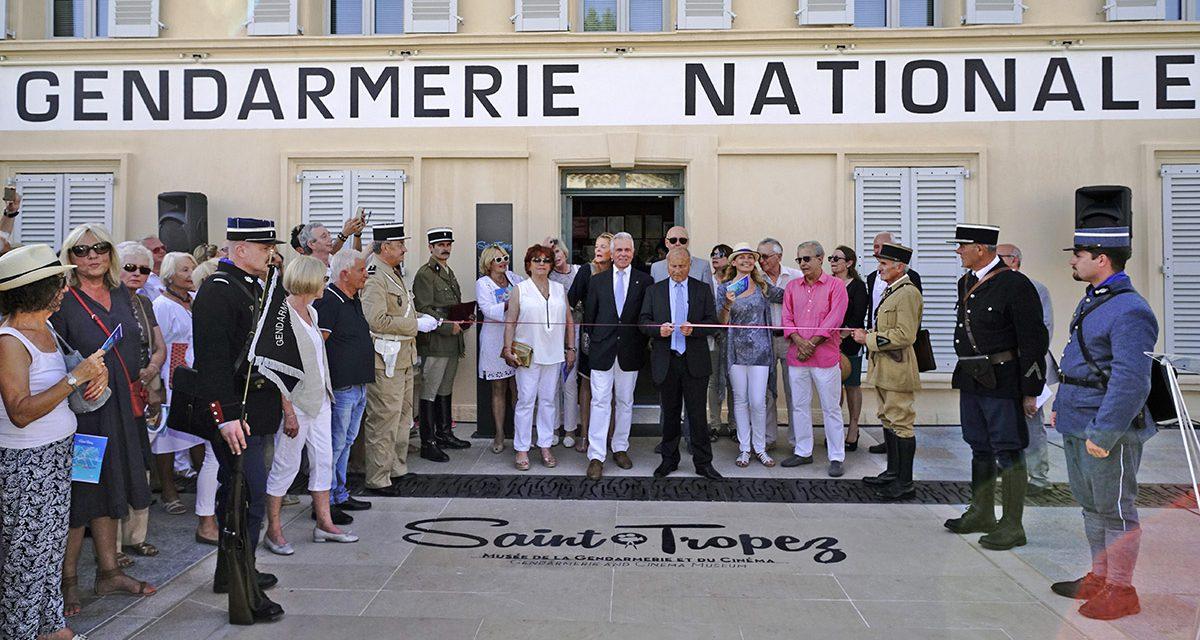 Inauguration de la place Blanqui et première visite officielle du musée de la Gendarmerie et du Cinéma de Saint-Tropez