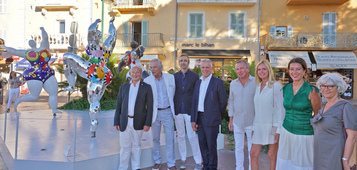 Vernissage de l'exposition « Niki de Saint Phalle à Saint-Tropez »