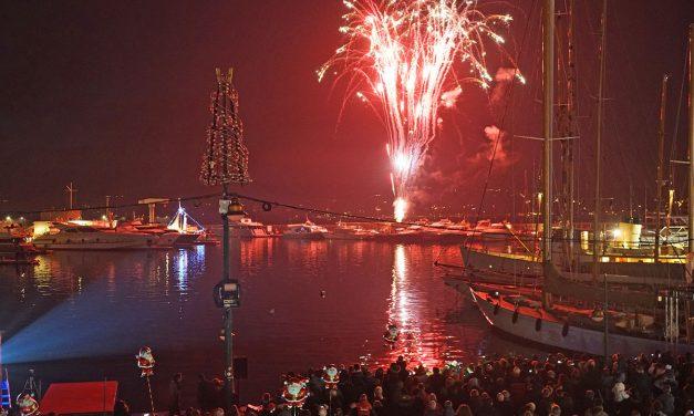 Noël à Saint-Tropez : feu d'artifice
