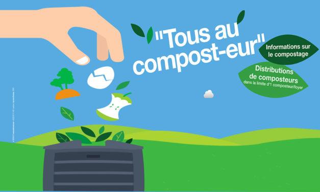 Distribution de composteur par la Communauté de communes