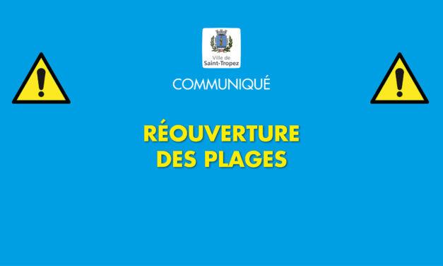 Communiqué pollution : réouverture des plages de la commune