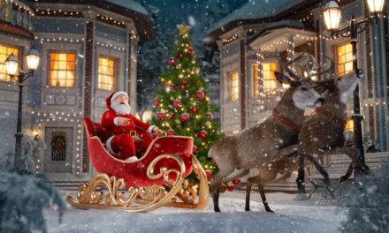 Le Père Noël itinérant en ville