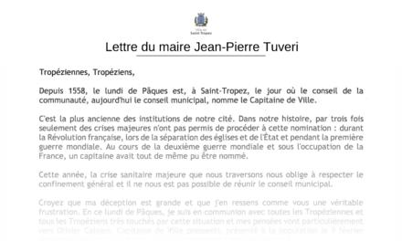 Report de la nomination du capitaine de ville : la lettre du maire aux Tropéziens