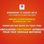 (Français) Restrictions de circulation en raison de la finale de la coupe du monde de football