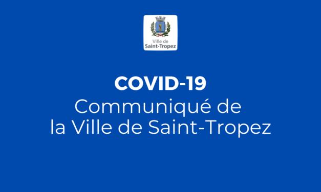 Covid 19 – communiqué de la Ville de Saint-Tropez