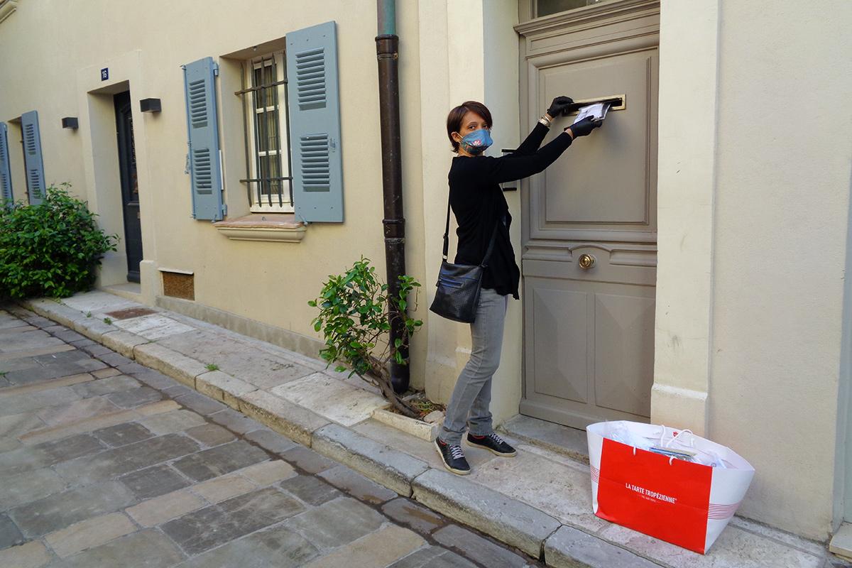 Distribution masques boîte à lettres