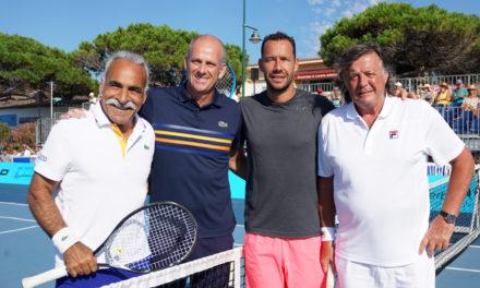 Guy Forget sur le « court » du Classic tennis tour