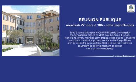 (Français) Réunion publique « concession d'aménagement »