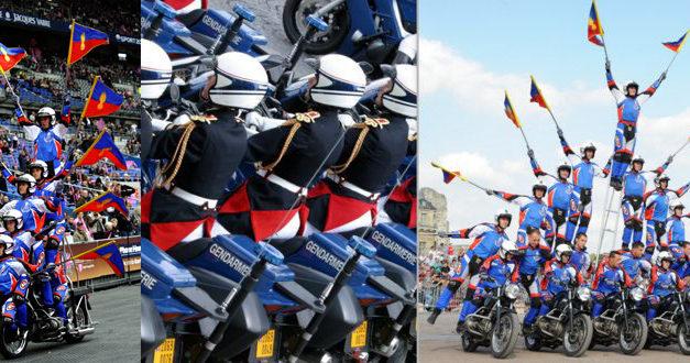 Spectacle de l'escadron motocycliste de la garde républicaine