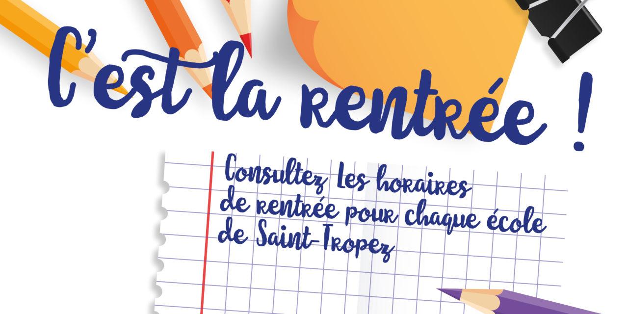 (Français) Horaires de rentrée scolaire 2018