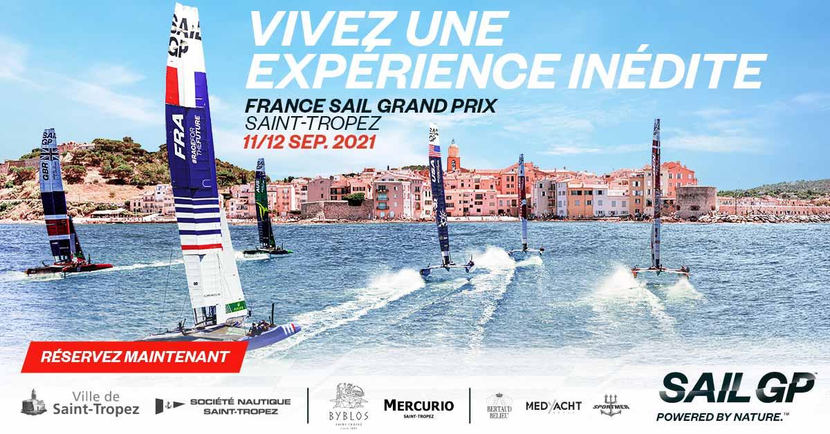 SAILGP Saint-Tropez, ville-étape du circuit 2021 les 11 et 12 septembre !