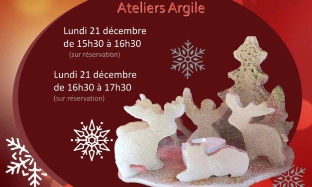 Ateliers de Noël à la BMJ – L'argile