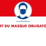 Port du masque sur tout le territoire communal jusqu'au 16 août