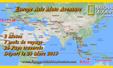 Départ du trip Europe Asie Moto Aventure