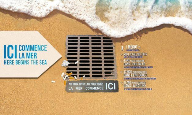 La Ville lance l'opération « Ici commence la mer » invitant la population au civisme